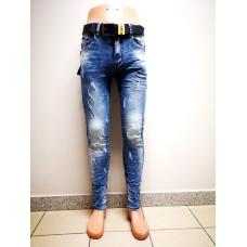 Jaunatviški, plėšyti vyriški džinsai R8508SO