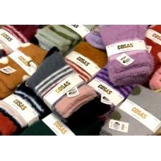 Šiltos audinės kašmyro kojinės 35-38 dydis