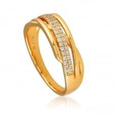 Žiedas su smulkiomis kristalo akutėmis