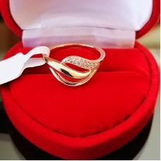 Žiedas su smulkiomis cirkonio akutėmis