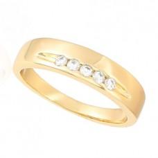 Žiedas  su kristaliukais