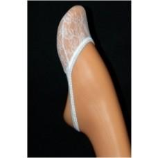 Universalios bei stilingos mini pėdutės iš elastano, puoštos smulkiais, ažūriniais ornamentais