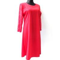 Suknelė su gipiūrinėm rankovėm