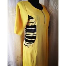 Lininė suknelė su kišenėmis