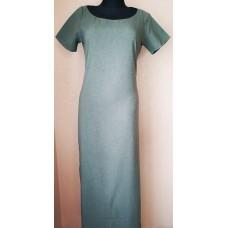 Chaki spalvos suknelė  su puošta nugara