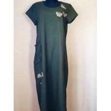 Chaki spalvos suknelė apkūnioms