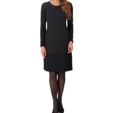 Suknelė juoda su iškiliais raštais