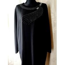Suknelė-tunika apkūnioms su puošta nugara